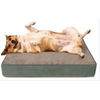 Buy cheap Orthopedic Memory Foam Bolster Dog Bed With Removable Washable Cover from wholesalers
