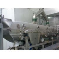 China Large Capacity Chicken Vibrating Fluid Bed Dryer For Food Industry on sale