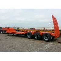 Buy cheap 70 Ton Fixed Gooseneck Low Bed Semi Trailer , 3 Axle Heavy Duty Lowboy Trailer from wholesalers