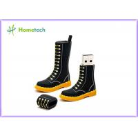 Buy cheap Black Boots Cartoon USB Flash Drive  Memory Thumb Drive FOR Student from wholesalers