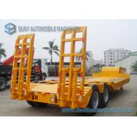 Buy cheap Low Bed 30 Ton Flatbed Semi Trailer Dual Axle Trailer With WABCO Brake from wholesalers