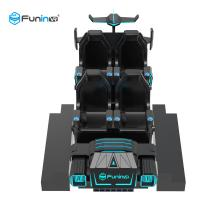 China 3.8KW 9D Cinema Simulator Virtual Reality Shooting VR Game Car With Delicate Action on sale