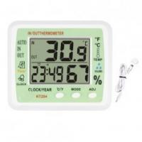 Buy cheap Indoor & Outdoor Digital Thermomete with Hygro KT-204 with Pointing Function on Each Hour from wholesalers