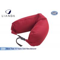 Buy cheap Promotional Gift Red Memory Foam Pillows For Car / Train , Microbeads Material from Wholesalers