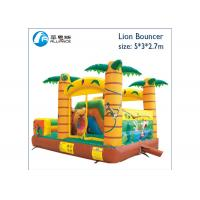 Buy cheap tropical forest small bouncy castle air jumping castle from wholesalers