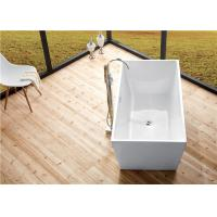Buy cheap Seamless Acrylic Square Freestanding Bathtub With Pop - Up Drainer Durable from wholesalers