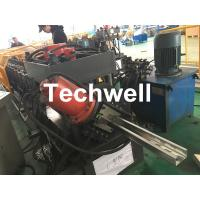 Buy cheap Hydraulic Pre-Punching & Pre-Cutting , High Productivity C Profile Roll Forming Machine With 0-15m/min Forming Speed from wholesalers