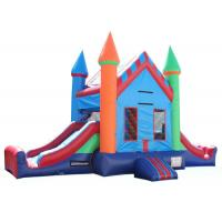 Buy cheap Attractive Inflatable Party City Bounce House , Double Slide Inflatable Moon Bounce from wholesalers