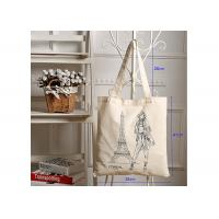 Buy cheap Cotton Shopping Canvas Bag Heavy Duty Simple Style With Large Capacity from wholesalers