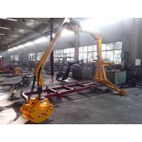 Buy cheap CE Approved Telescopic crane log trailer with crane /forestry machine from wholesalers