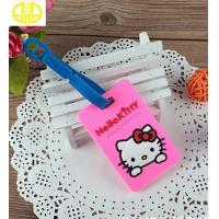 Buy cheap Girl Pink Silicone Gifts / Soft Rubber PVC Luggage Name Tag for Traveling from wholesalers