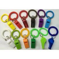 Buy cheap Promotional Gift Colorful Best Wrist Strap Coil W/Plastic Whistle from wholesalers