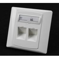 Buy cheap Germany Type 86*86 45 Degree Wall Mount Socket Double Port Face Plate With Shuttle from wholesalers