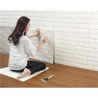 China 3D Brick Thicken Soft PE Foam Wall Sticker Panels Wallpaper Decor on sale