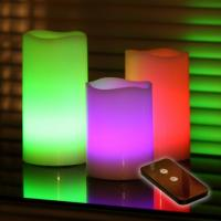Buy cheap Battery Operated Colour Changing LED Wax Candles with remote controller from wholesalers