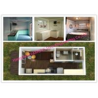 Buy cheap Portable Prefab Container Homes With Interior Decorations Bedroom / Bathroom / Kitchen / Washbasin from wholesalers