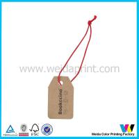 Buy cheap Small Brown Kraft Printable Paper Tags with Black Lettering and Red String from wholesalers