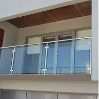 Buy cheap Frameless glass railing wrought iron outdoor metal stair railing from wholesalers