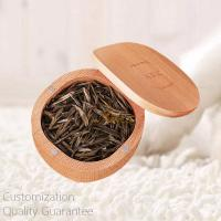Buy cheap Good Quality Well Crafted Cut Round Beech Wood Travel Tea Leaves Case, Personalized Logo Brand, 6 Tea Tins. Small Order. product