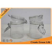 Buy cheap 50ml Mini Clip Top Tea Coffee Sugar Storage Jars With Glass Lid 90g from wholesalers