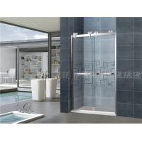 Buy cheap 8mm Clear Double Move Screen Sliding Glass Shower Doors With Big Hanging Wheels from wholesalers