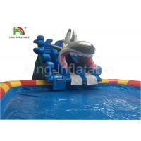 Buy cheap Grey Megalodon Adult & Kids Inflatable Water Parks With Slide For Outdoor from wholesalers