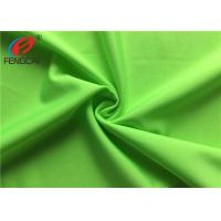 Buy cheap Breathable Dry Fit Strecth Polyester Elastane Fabric For Sportswear , Green Color from wholesalers