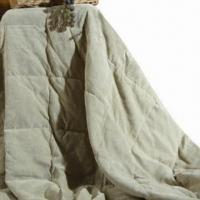 Buy cheap Twill Micro Suede Blanket with 3-D Polyester Filling and Batting, Knife Edge from wholesalers