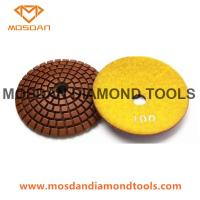 Buy cheap 3 Inch Convex Corner Counter Top Resin Polishing Pads for Edge Surface from wholesalers