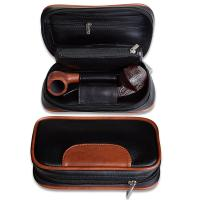 Buy cheap Leather Tobacco Pipe Pouch Accesories Bag Holder 2 Pipes and Other Accessories from wholesalers