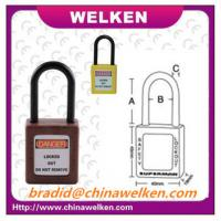 Buy cheap China Bradi, WELKEN, 38mm long Nylon shackle, eight colors ABS dielectric safety padlock from wholesalers