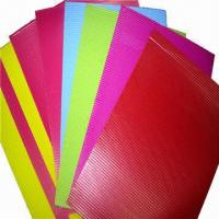 Buy cheap Glossy Color Corrugated Papers, Suitable for Gift Wrapping, Handcrafts and School Activities from wholesalers