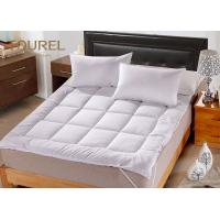 Buy cheap White Queen Bed Mattress Protector For Hotel Hospital Spa Home from wholesalers