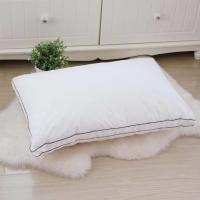 Buy cheap Lightweight Hotel Collection Pillows 80% Velvet Down And Color Piping Edge With 48 * 74cm from wholesalers