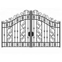 Buy cheap Outdoor Sliding Grill Cast Iron Driveway Gates For House Double Entry from wholesalers