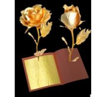 Buy cheap 2017 Factory wholesale new brand 18k pure gold leaf 8*8 CM 75% gold content for decoration crafts from wholesalers