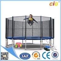 Buy cheap Leisure Steel Bungee Trampoline , Children 14ft Safety Trampoline Park product