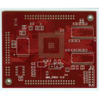 Buy cheap Rapid Red Multilayer PCB ENIG Arlon Printed Circuit Design With 3 Mil Min Line Space from wholesalers