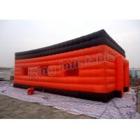 Buy cheap CE Inflatable Party Floating House Inflatable Event Tent With Orange Color Double Layers Design from wholesalers