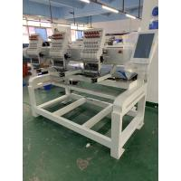 China 2 Heads Computer Cap T shirt Flat Embroidery Machine Price for Sale With Embroidery Software on sale
