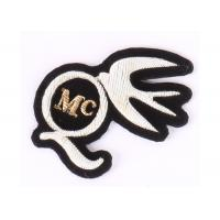 Buy cheap Gold And Silver Embroidered Blazer Badges For Clothes , Embroidered Emblem from wholesalers