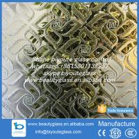Buy cheap 4-6 mm decorative titanium mirror acid etched glass from Shahe city from wholesalers