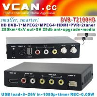 Buy cheap DVB-T2100HD Car DVB-T MPEG4 H.264 tv receiver with 2 tuner PVR USB Record from wholesalers