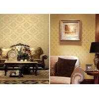 Buy cheap Brown Concise Vintage Damask Wallpaper , Concise European Wall Covering product