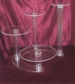 Buy cheap cheap acrylic cake seperator cake stands from wholesalers