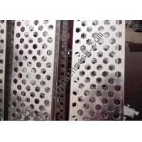 Buy cheap Hexagonal Perforated Metal Mesh , 0.3-10mm Thickness Perforated Aluminium Sheet from wholesalers