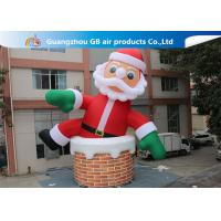 Buy cheap 10m Big Inflatable Holiday Decorations / Blow Up Father Christmas product