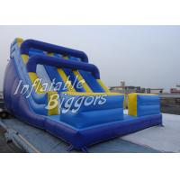 Buy cheap Hotel Promotion Blue Kids Inflatable Fun Rentals Slides For Festival Activity from wholesalers