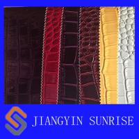 Buy cheap Grain PU Crocodile Faux Leather Fabric For Bags from wholesalers
