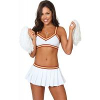 Buy cheap White Sexy College Cheerleader  Halloween Adult  Costumes New Styles Fancy from wholesalers